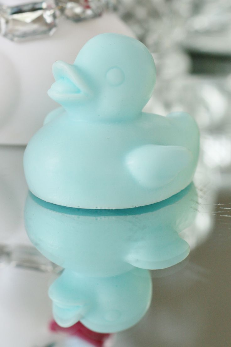"""""""Lil Gem"""" Duckie Soap  55g ea       Simply Natural and Handmade in Australia Mold has been specially commissioned to produce  Milky and Creamy Sky available from www.rubberduckie.net.au"""