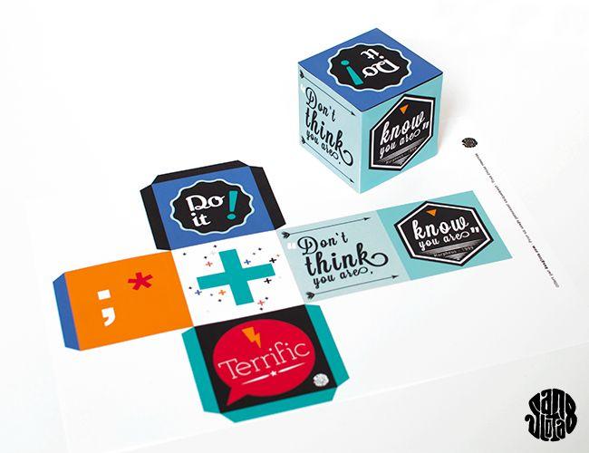 FREE printable positive box!!