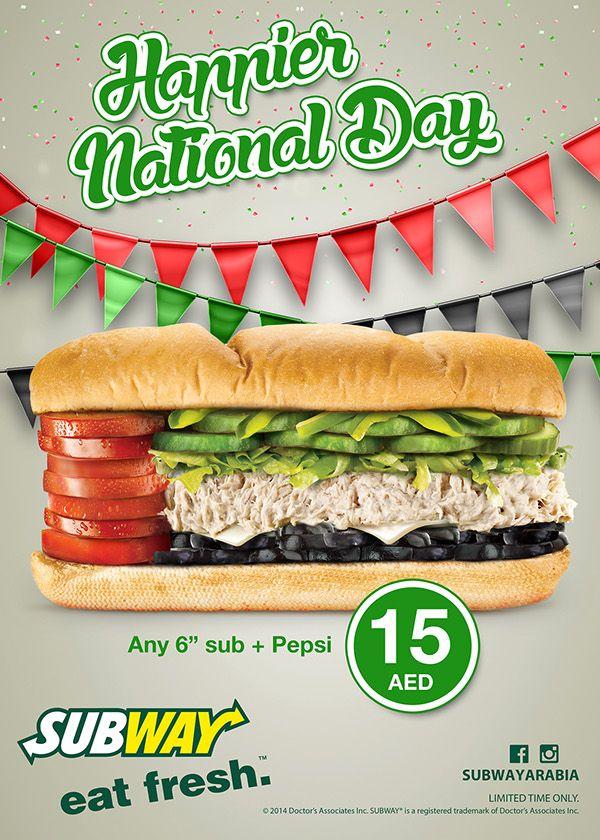 SUBWAY - UAE National Day Promotion on Behance