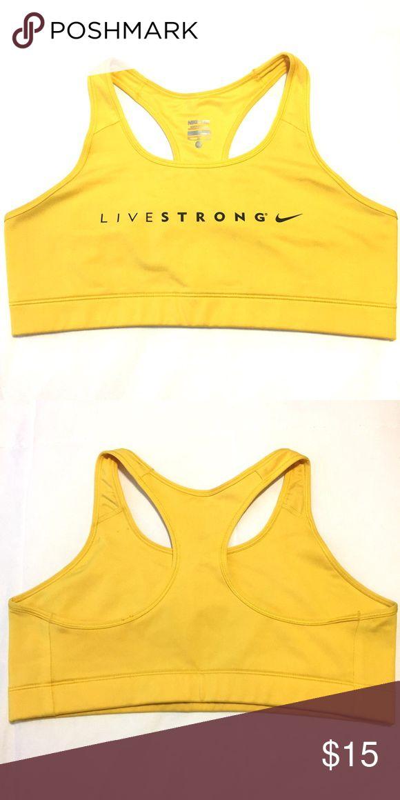 Nike LiveSTRONG Pro Bra - Yellow Gently used medium support sports bra. Nike Intimates & Sleepwear Bras