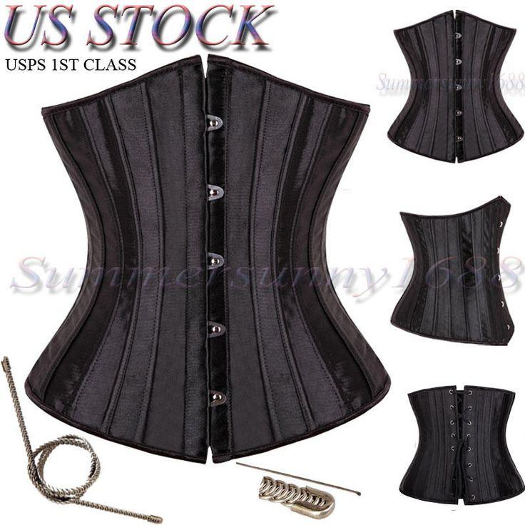 26 Spiral Steel Boned Waist Training Plus Size Underbust Corset Shaperwear Top in Corsets & Bustiers | eBay