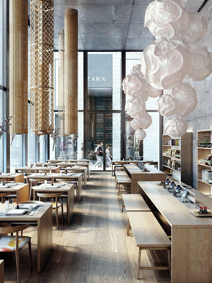 1000 ideas about interior rendering on pinterest for Decoration interieur restaurant