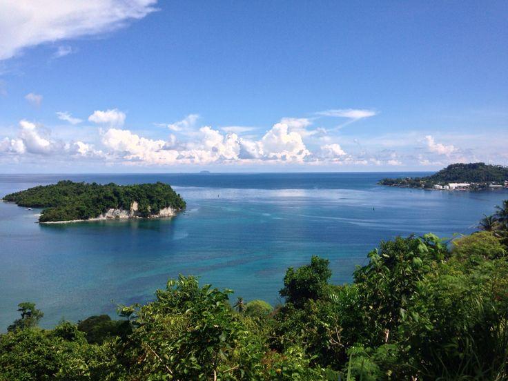 View of Sabang City on my way to Iboih