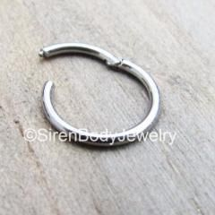18g Nose ring clicker tragus hoop helix earring silver nostril piercing body jewelry