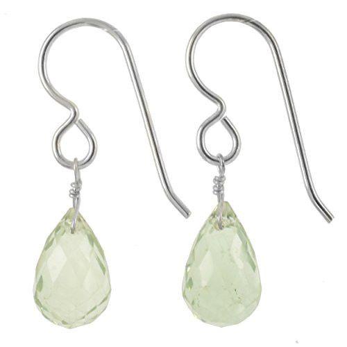 Mint Green Quartz Gemstones - 925 Sterling Silver - Dainty Handmade Earrings