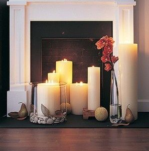 Best 25+ Candles in fireplace ideas on Pinterest | Candle ...