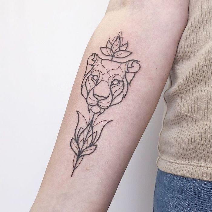 Women Tattoo Forearm Lotus Flowers In 2020 Lion Tattoo Tattoos For Women Foot Tattoos For Women