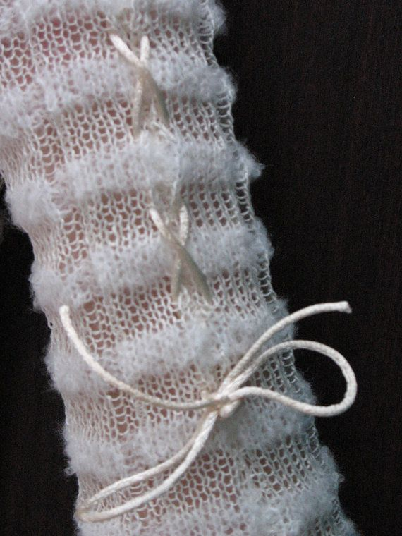 Vingerloze handschoenen kant polswarmers witte lange korset