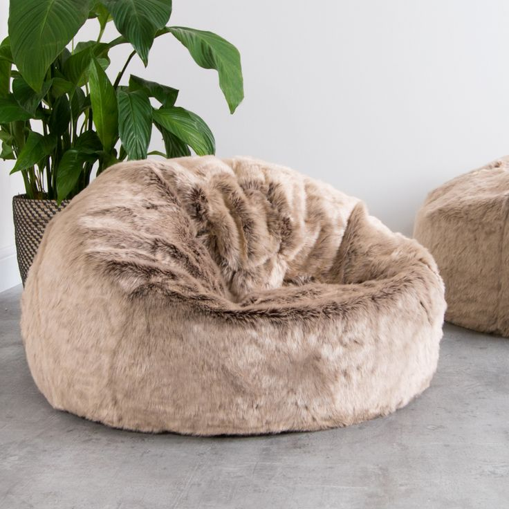 ICON™ Luxury Faux Fur Classic Bean Bag Mink