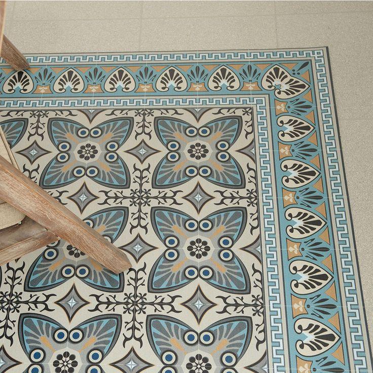 Beija Flor - Tapis de sol Vinyle Dessous-De-Plat - Turquoise - Tapis Carreaux de Ciment  http://www.homelisty.com/tapis-carreaux-de-ciment/