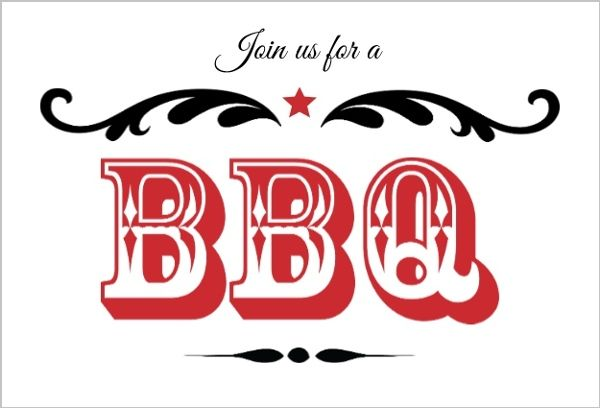 Bbq Invitations, Bbq Invite & Bbq Invitation Template