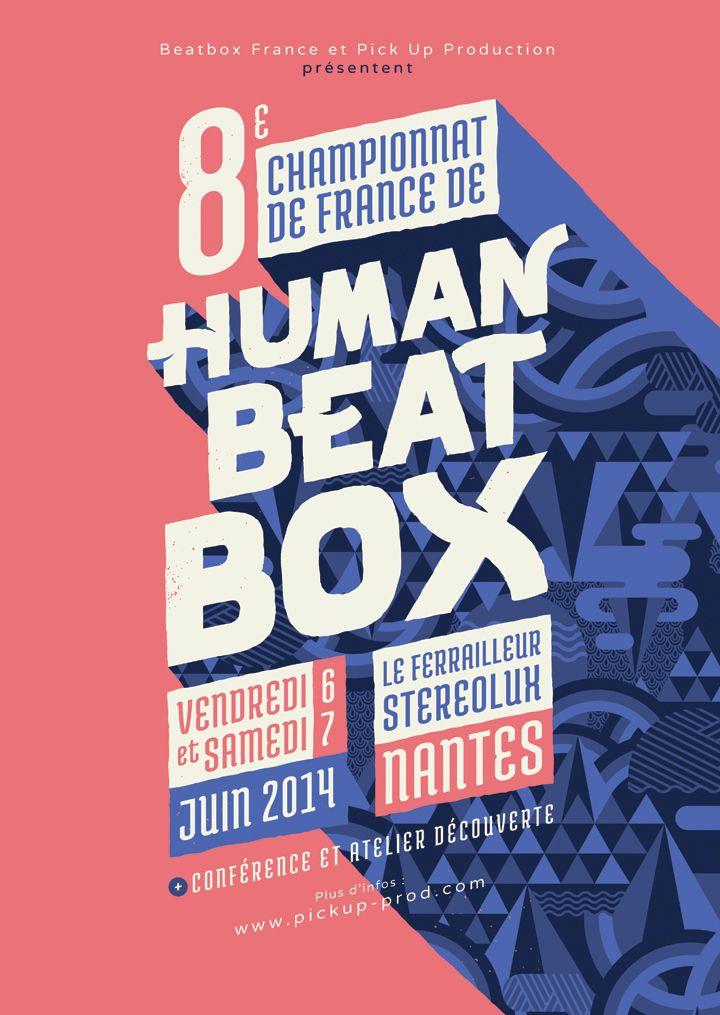 Affiche du 8ème championnat de France de Human Beatbox à Nantes
