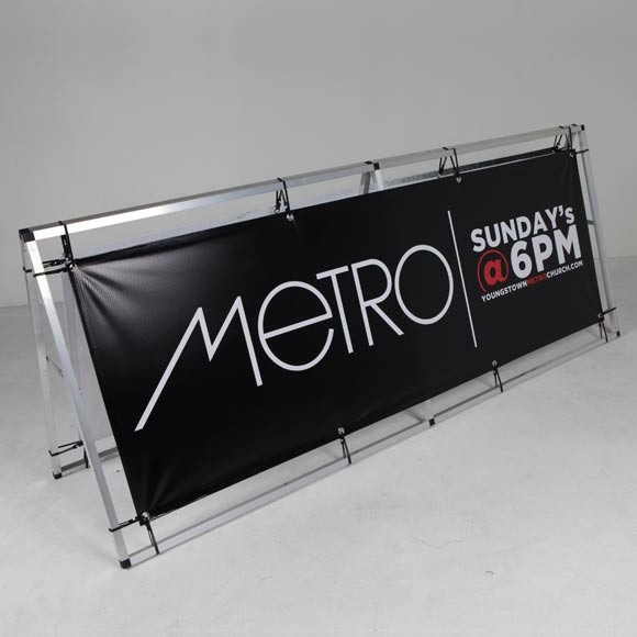 Sample Primary Outdoor Signage Banner & Frame - Rocket Republic. For all of your advertising needs at unbeatable rates - www.adsdirect.org.uk