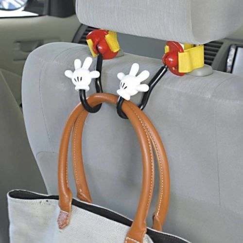 Nuevo Disney Mickey Mouse asientos Bolso Gancho Bolsa Colgador Soporte De Accesorios Para Auto