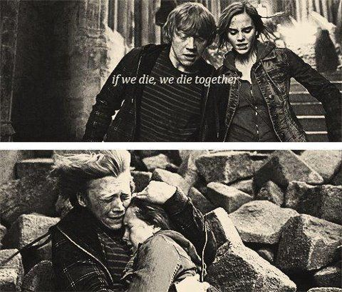 ron and hermione .. Would have been better if rupert did say it