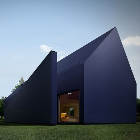 l01 House,  Łódź, Poland, by MOOMOO architects, featuring a plastic insulating material normally used for roofing.