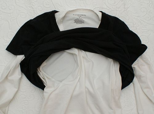 One Minute DIY layered no sew nursing top