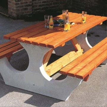 The 28 best picnic tables images on pinterest picnic tables steel concrete end timber table height745mm width710mm length1825mm watchthetrailerfo