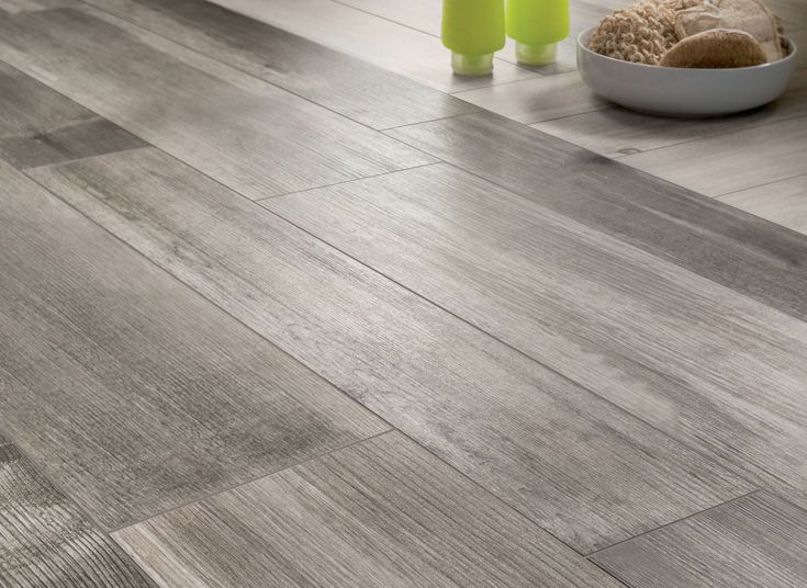 tile that looks like hardwood floor | medium grey wooden floor tiles closeup