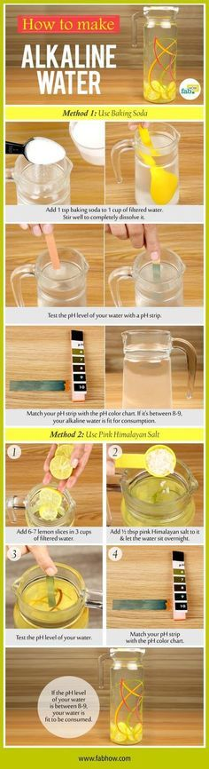 How to Correctly Make Alkaline Water to Help your Body Absorb Nutrients More Quickly and Other Benefits