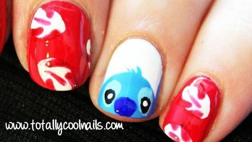 Lilo & Stitch Disney Nail Art C would love it if I had these!