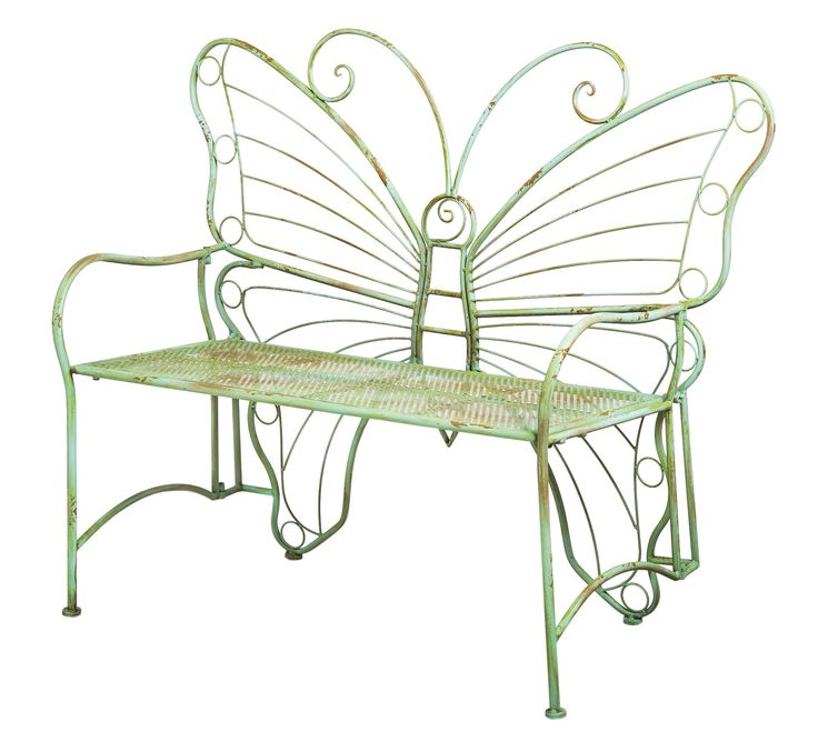 Bring A Memorable, Whimsical Touch To Your Garden, Porch, Or Patio With  This Unique Mint Green Bench Featuring An Artistic Oversized Butterfly  Design.