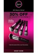 Sigma Beauty is known for there quality makeup brushes and out of this world eye shadow pallet. One thing you can always count on is a great deal but today that deal is even better. Get 30% off all orders for the next 48 hours.