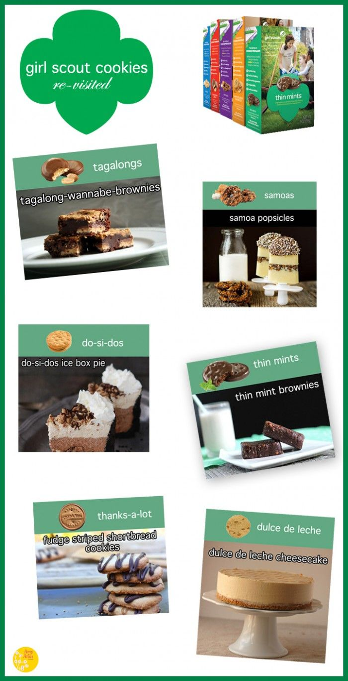 Girl Scout cookies revisited! Tagalong brownie, anyone?
