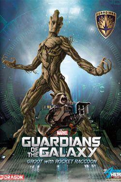 Guardians of the Galaxy Action Hero Vignette 1/9 Groot & Rocket Raccoon 23 cm  Guardians of the Galaxy - Groot - Hadesflamme - Merchandise - Onlineshop für alles was das (Fan) Herz begehrt!