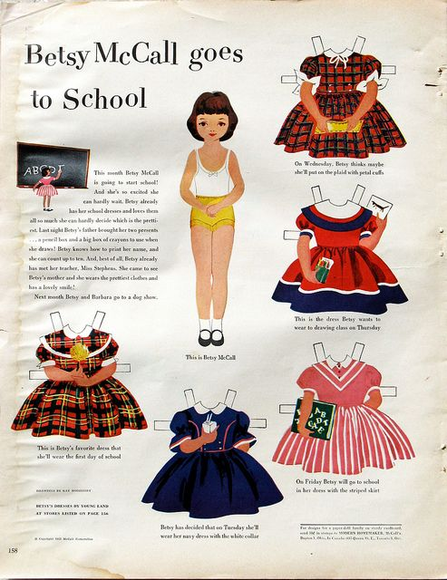 Betsy McCall Goes to School by cluttershop, via Flickr