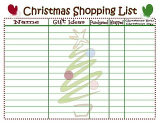 """Christmas Shopping List Printable - um. It doesn't get any more perfectly """"right up my alley"""" than this!"""