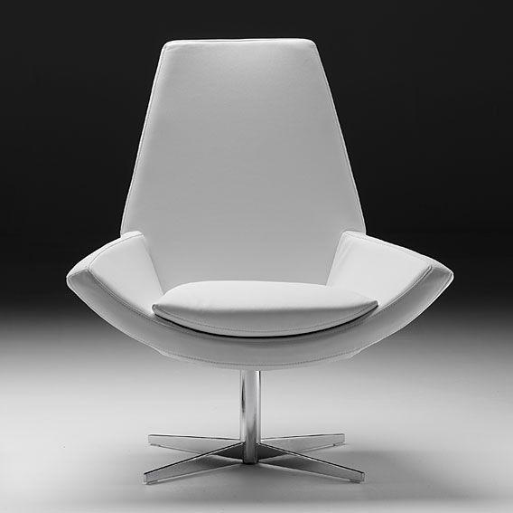 Butaca Blanca Moderna Trazo   Material: Piel Sintetica   Mueble realizado en Piel Sintetica y AceroAltura de asiento a respaldo 65 cms... Eur:199 / $264.67