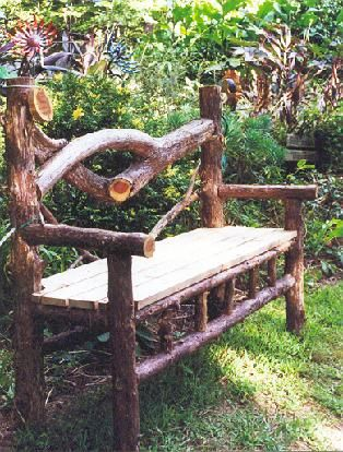 Best 25+ Rustic outdoor benches ideas on Pinterest | Log chairs ...
