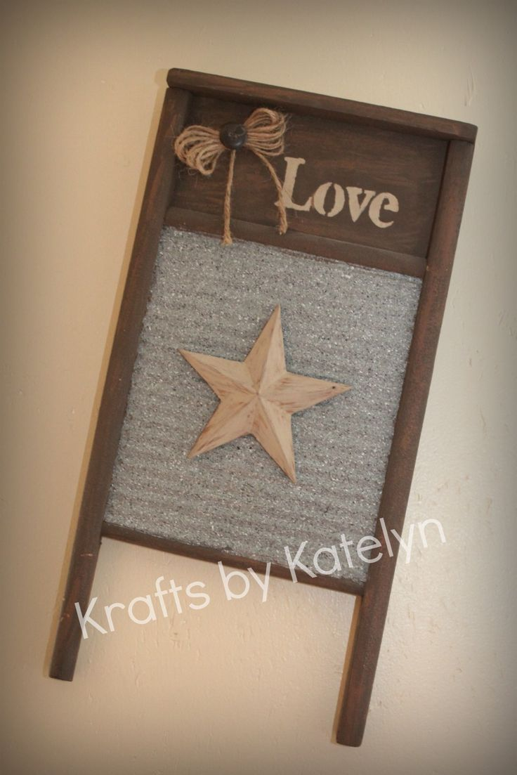 Rustic stars for crafts - Washboard