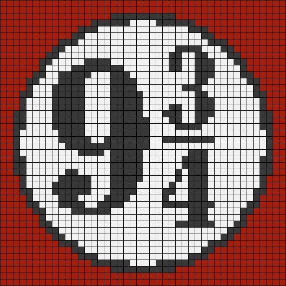 Hogwarts Express Train Platform - Harry Potter perler bead pattern to use for crochet pixel blanket. by taylor