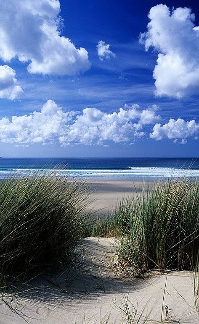 Cornwall, UK-- i can just feel the sand between my toes as I look at this picture. Awesome!
