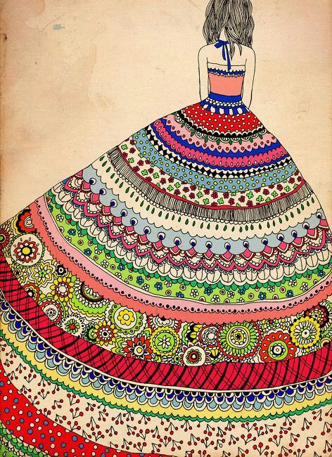 Whew! that is one complicated drawing with beautiful colors and intricacy. I would love to try this out someday.
