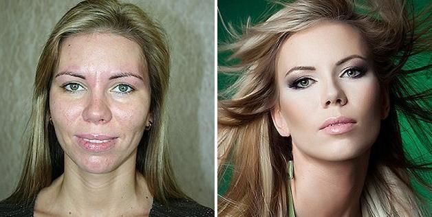 Before & after photos of clients of makeup artist Vadim Andreev (© Vadim Andreev, http://vadimandreev.ru)