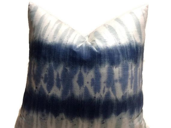 Kravet Tie Dye Linen Pillow Cover, Pillows, Ashbury In Indigo, Blue Decorative  Pillow, Throw Pillow, Accent Pillow, Home Decor, Housewares