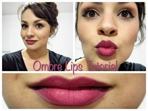 Ombre Lips Makeup Tutorial Great look to use during this holiday season! Can be used on any occasion!
