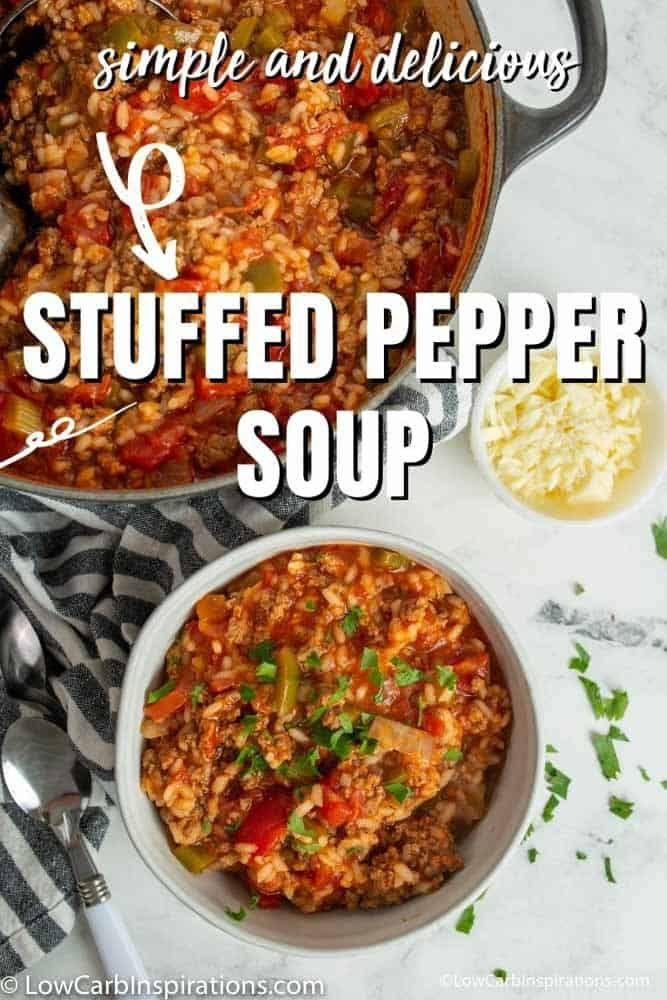 Hello Fall Keto Meal Idea You Are Going To Love This Recipe In 2020 Stuffed Peppers Stuffed Pepper Soup Soup Recipes