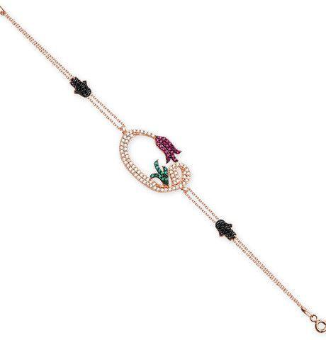 Women's Islamic Bracelet Waw with Tulip – Modefa USA