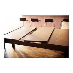 Les 25 meilleures id es de la cat gorie salles manger for Table extensible ikea bjursta brun noir
