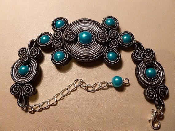Sweet dream soutache bracelet by JoannaArt77 on Etsy, $18.00