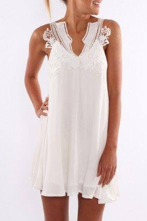 Teash Dress $59 SHOP ll http://www.jeanjail.com.au/ladies/teash-dress-white.html