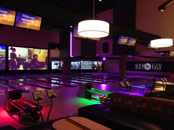 HeyDay Entertainment Center in Norman, Oklahoma has it all - a two-story bowling alley, laser tag, mini golf, ropes course, two restaurants, a bar, an arcade, batting cages and a laser maze.