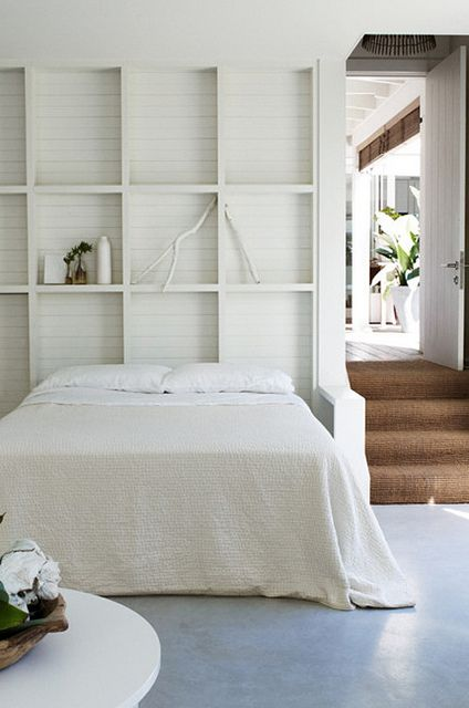 a beautiful beach cottage in australia by the style files, via Flickr  Love the recessed shelving