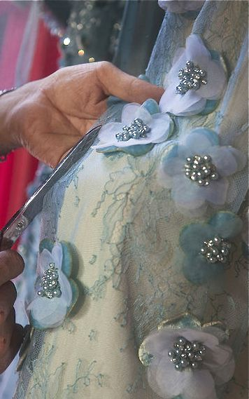 Embellishment idea:  Georges Hobeika                                                                                                                                                      More