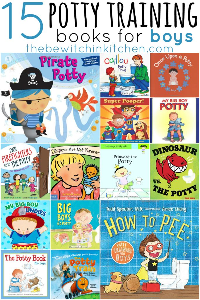 15 books that make potty training boys easier from The Bewitchin' Kitchen.