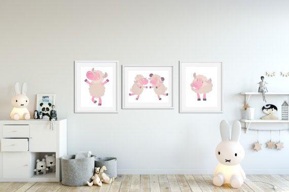 Little pink lamb little lamb print Cute Lamb Art by MyGalleryWall